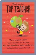Top Teacher Greeting Card